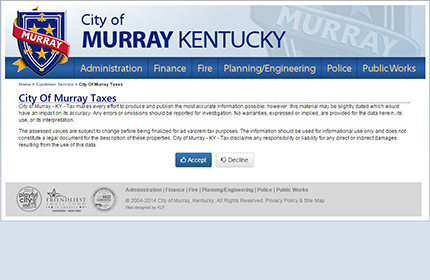 City of Murray, KY Tax & Utility